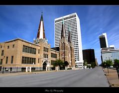 Downtown Tulsa OKLAHOMA (EXPLORE) (熊.陈美芬.Phan Ly Photography.On/Off) Tags: travel sky oklahoma church canon photography eos photo downtown mark il explore 5d tulsa favs excellence supershot top20colorpix markll golddragon mywinners anawesomeshot citrit overtheexcellence goldstaraward goldenheartaward