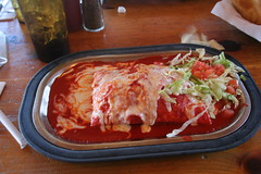 Stuffed Sopapilla - Red (fj40troutbum) Tags: chile newmexico santafe nm sopapilla redchile tomasitas top20nm newmexicanfood stuffedsopapilla