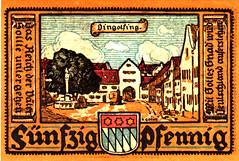 Dingolfing, 50 pf, 1920 (Iliazd) Tags: money germany graphicdesign notgeld papermoney germaninflationarycurrency emergencymoney 19171923 germanpapermoney