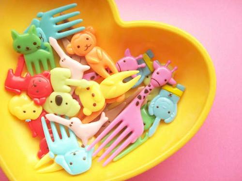 Kawaii Japanese Food Picks Bento Accessories Animals Cupcake