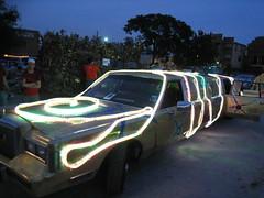 rope light limo (cee emily) Tags: houston artcar artcarparade houstonartcarparade2009