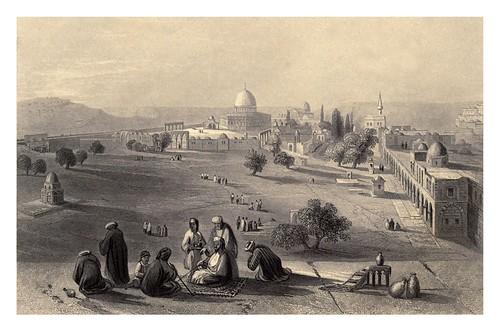 012- Recinto del templo en Jerusalem-Bartlett, W. H. 1840-1850