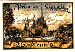 Prien, 25 pf, 1920 (Iliazd) Tags: inflation notgeld germaninflationarycurrency emergencymoney germanpapermoney