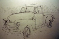 sketch of old chevy truck completed (jthomasart67) Tags: old art pencil truck watercolor painting sketch drawing paintings drawings pickup chevy watercolour draw acuarela sketches aquarella shetch