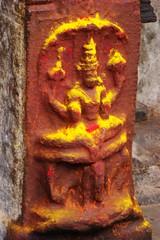 Sculpture Srirangam (1) (Indianature s3) Tags: art heritage architecture temple vishnu tamil tamilnadu trichy srirangam mahavishnu chola dravidian cauvery vishnutemple tiruchirapalli ranganathaswamy indianature cauverydelta dravidiantemple dravidianheritage snonymous indiasnonymous