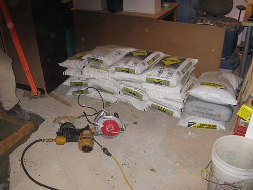 600kg of concrete