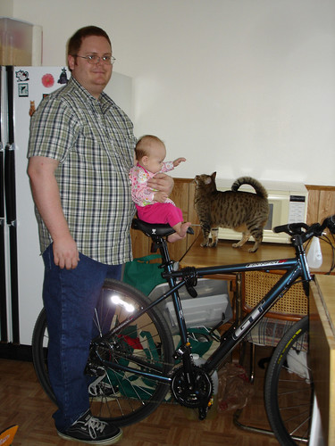 Lily on Daddy's bike