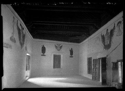 Interior de la Posada de la Hermandad a principios del siglo XX. Foto Rodríguez
