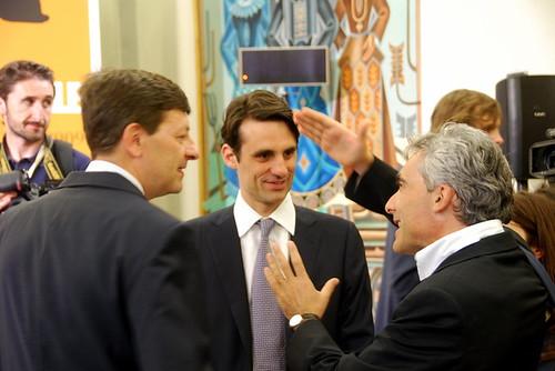Vittorio Colao, Andrea Prat and Tito Boeri