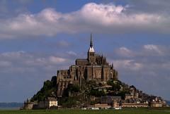 Mont-Saint-Michel (Kirsten M Lentoft) Tags: city sky france me church abbey rock clouds island moi mich normandie mig montsaintmichel theunforgettablepictures betterthangood kirstenmlentoft