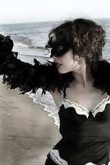 The Dark Side of Burlesque (ninakupenda81) Tags: sea beach mare mask burlesque spiaggia maschera