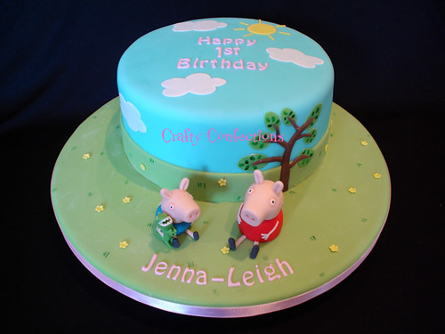 Peppa Pig 1st Birthday Cake