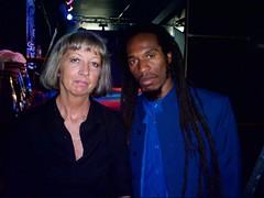 Benjamin Zephaniah & Pauline Campbell backstage