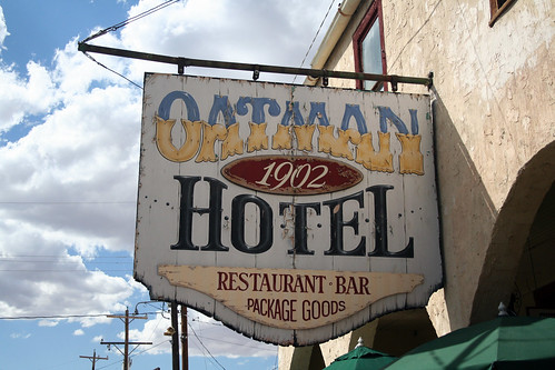 Oatman Hotel - Sign