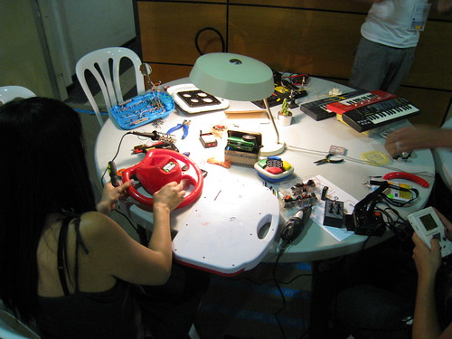 Hacking toys to create musical instruments