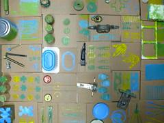 estampació (associacioespiral) Tags: arts material amb reciclatge artístic reciclat plàstiques