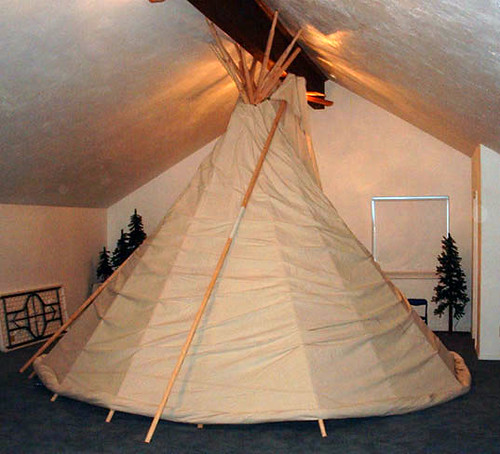Teepee in House