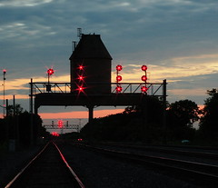 Nelson as the Light Fades away (wjmanon74) Tags: railroad sunset up illinois nelson unionpacific afterdark cnw