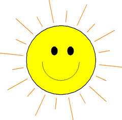 sun smiling
