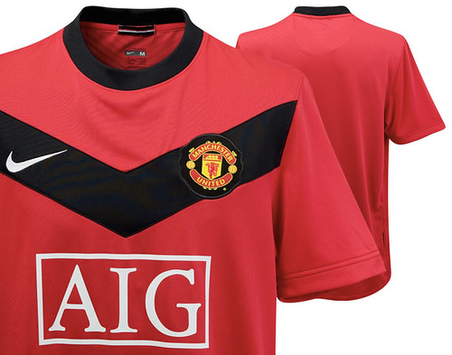 Manchester United 2009/10 home shirts