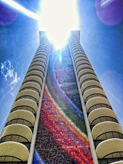 Rainbow Tower (/\ltus) Tags: hawaii pentax waikiki optio honolulu hiltonhawaiianvillage rainbowtower w60 nothdr