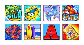 free Golden Goose Crazy Chameleons slot game symbols