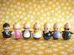 Kawaii Cute Kewpie Tiny Roly Poly Dolls Japanese Toy Collection
