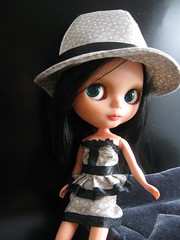 Pearl Gray Hat and Outfit