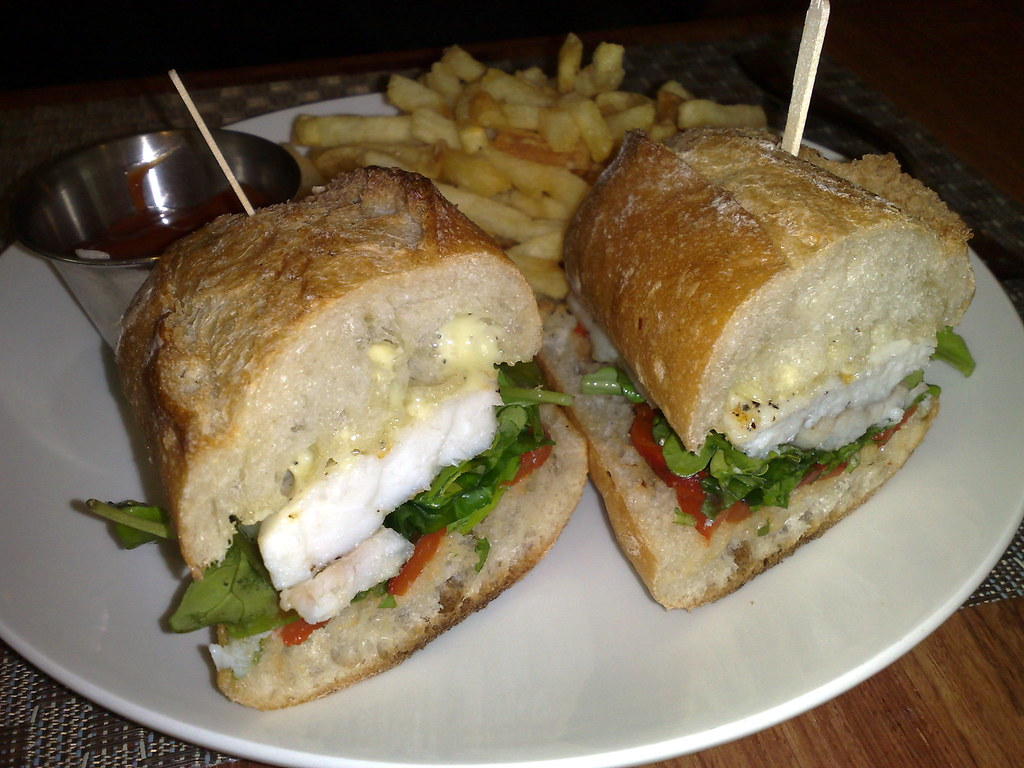 Grilled Halibut Sandwich