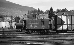 Outside the CPR Nelson Shops. (R R Horne) Tags: bc nelson caboose cp cpr railroads fav10