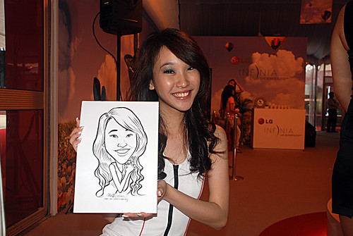 caricature live sketching for LG Infinia Roadshow - day 1 - 17