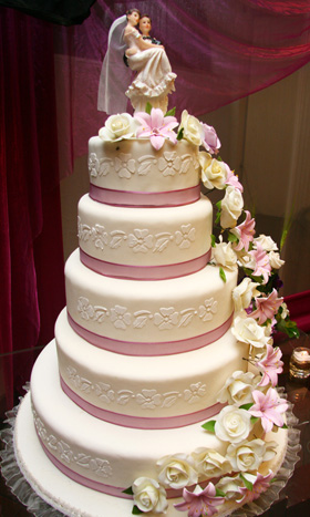 Torta bodas 5 niveles