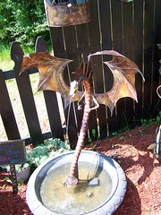 His copper dragon Fountains are Magnificent (leespicedragon) Tags: castle leather festival musicians silver gold costume cool handmade tennessee events bellydancer pirate copper knight celtic fairies renaissance triune 2010 garb gwynn marvinleebillings