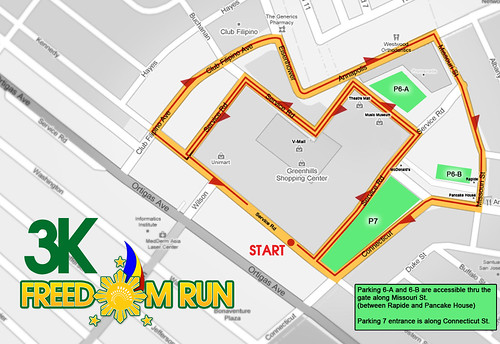 Freedom Run 2010 - 3K Race Map