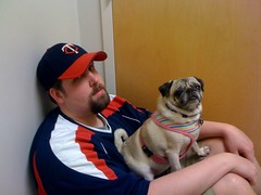 Father & daughter at Kiki's follow up vet visit.