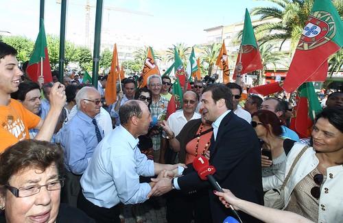 Pedro Passos Coelho visita a Feira do queijo em Pombal