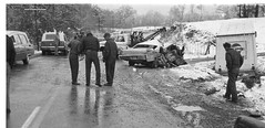 Ambulances from Gross Mortuary and Caruth Funeral Home on Highway 70W, November 23, 1971 after 2 killed tragically when car and delivery truck collide on icy roadway near Hot Springs, Arkansas. (Dr. Mo) Tags: 1971 highway pcs accident pray injury cadillac ambulance safety medicine arkansas icy wreck emergency tragic bls ems emt siren hearse hazard combination hotsprings doa collision funeralhome firstaid injuries emergencylights mortuary procar fatality funeralcoach accidentscene mortician emergencymedicine staroflife ambulancedriver ambulancewreck billdever deathcare drmo caruthfuneralhome jimmoshinskie grossmortuary hearseambulance funeralcustoms professionalcarsociety beaconray professionalvehicle scenesafety