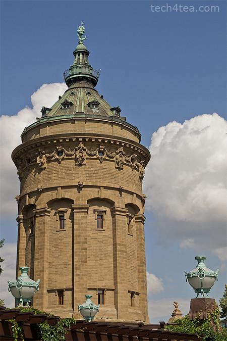 Wasserturm (Water Tower) at Friedrichsplatz in Mannheim