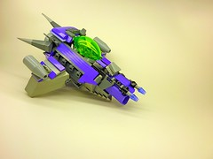 Violet Range 2 (SuperHardcoreDave) Tags: lego tech space alien future spaceship starship moc starfighter