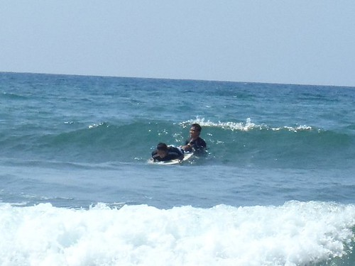 Surfing in San Juan, La Union