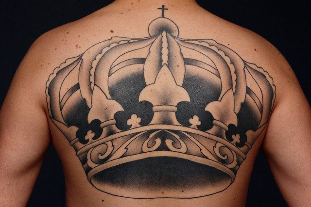 Finished Crown Tattoo. Finished Crown Tattoo