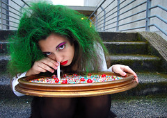 Miss Sweety (Angelo Nairod) Tags: green girl strange underground candy makeup madness miss soe metropolitan sweety cocaine dorian decadent greenhair romanticism canditi strangegirl citrit junjou nairod angelonairod fabbow
