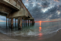 Dania Beach Pier, Sunrise & Conch Shell (Michael Pancier Photography) Tags: sunrise pier fisheye beaches hdr fineartphotography dania naturephotography seor browardcounty conchshell daniabeach naturephotographer canon15mmfisheye mywinners floridaphotographer michaelpancier michaelpancierphotography browardcountyflorida wwwmichaelpancierphotographycom seorcohiba