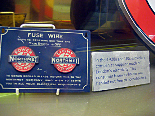 Roundel Fuse Wire Holders - St James's Park Station