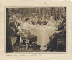 Artists dining outdoors at Mt. Kisco (Smithsonian Institution) Tags: ladies friends men sepia table outside outdoors picnic group artists 50s 1912 seated gents gettogether smithsonianinstitution alfrescodining stieglitz mtkisco archivesofamericanart alfredstieglitz abrahamwalkowitz agneselizabethernstmeyer katharinerhoades paulhaviland johnmarin jbkerfoot picnic50