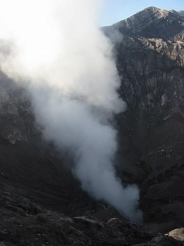 De nog aktieve vulkaan