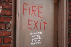 A world of subtitles (therealshaunhicks) Tags: street door streetart art fire alley sub exit title subtitles fireexit