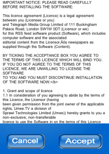 Telegraph iPhone app terms and conditions