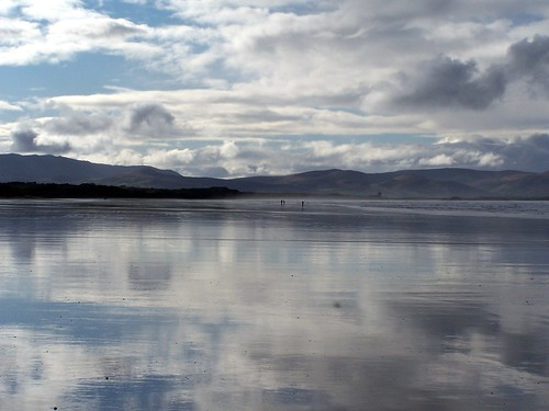 Reflections at the beach in Banna