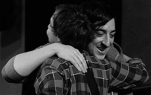 Daniel Rossen and Ed Droste hug and make up